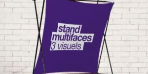 stand multi-faces imprimé