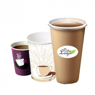 Extrêmement Impression gobelets personnalisés en carton pour boissons chaudes KE16