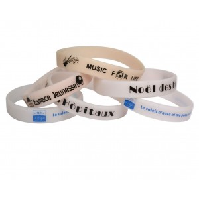 Impression bracelet silicone uv