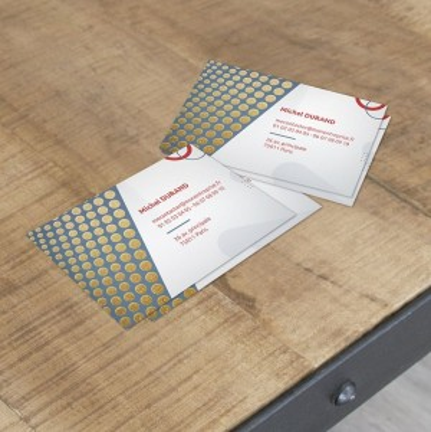 carte de visite vernis paillettes