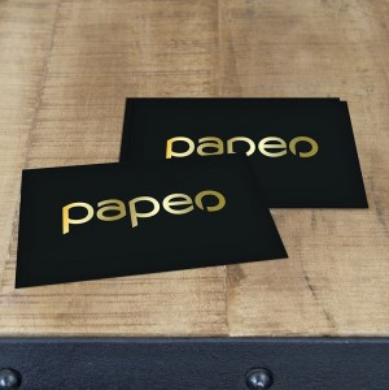 impression carte en papier noir