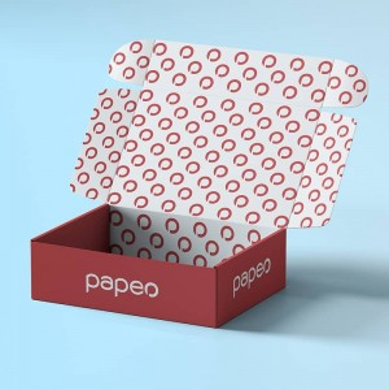 Boîte à rabat en carton