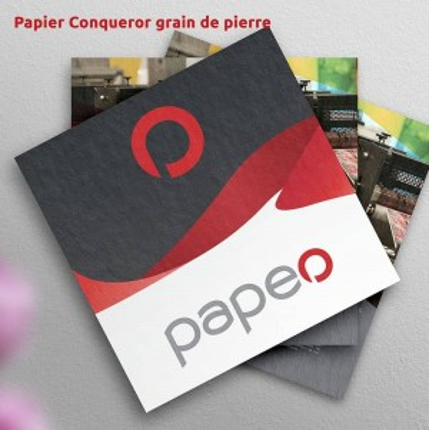 Impression sur papier texturé de flyer