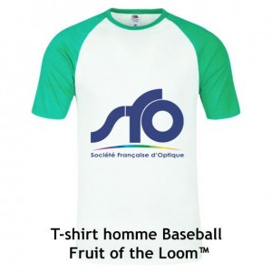 T-shirt baseball pour homme manches courtes