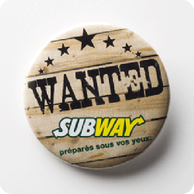 Impression badge bouton