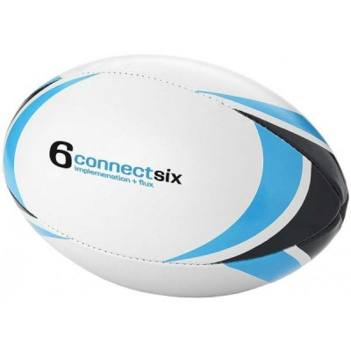 Ballon de rugby publicitaire