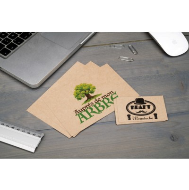 Carte personnalisée et imprimée sur papier recyclé