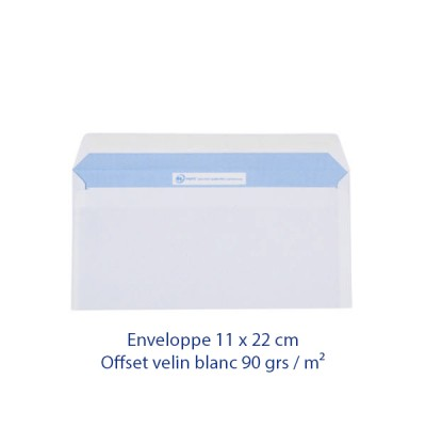 Impression enveloppe 11 x 22 cm personnalisée