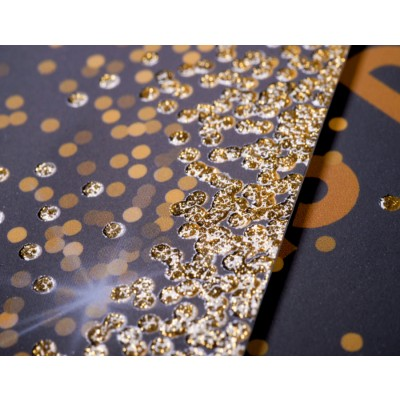 Impression de cartes à paillettes