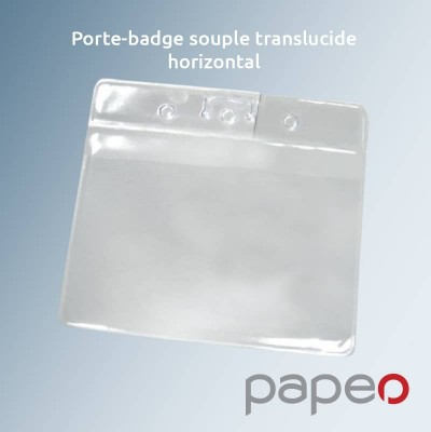 Porte badge translucide vertical