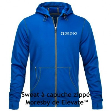Sweatshirt à capuche zippé Moresby de Elevate